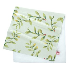 Green Vine Printed Bamboo Fibre Face and Hand Towel
