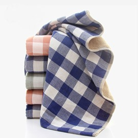 100% Cotton Double Colors Plaid Face & Hand Towel