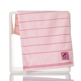 Pinstripe and Cute Embroidery Soft Cotton Face & Hand Towel