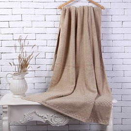Brown Soft Cotton Machine Washable Extra Large Bath Towel