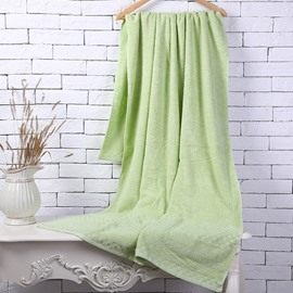 Green Soft Cotton Machine Washable Extra Large Bath Towel