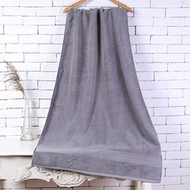 28-Inch-by-55-Inch Grey Soft Cotton Bath Towel