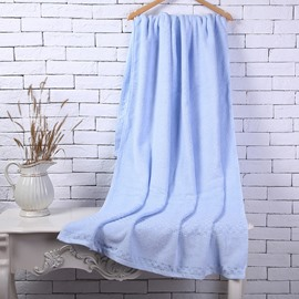 Blue Soft Cotton Machine Washable Extra Large Bath Towel