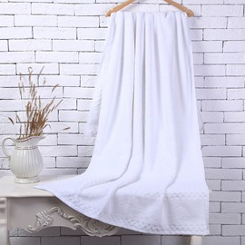 White Soft Cotton Machine Washable Extra Large Bath Towel