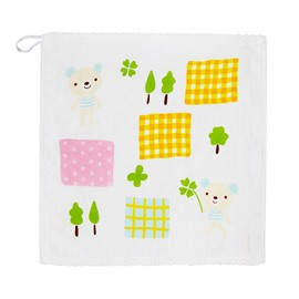 Square Shape Cartoon Pattern Cotton Quick-Dry Face&Hand Towel