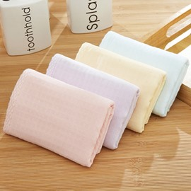 Rectangular Plain Pattern Soft Cotton Children Face&Hand Towel