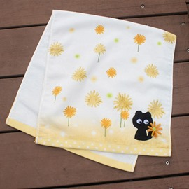 Animal Floral Pattern Cotton Children Face&Hand Towel
