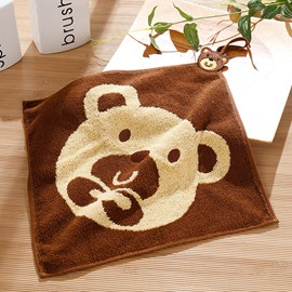 Animal Pattern Square Shape Soft Cotton Face&Hand Towel