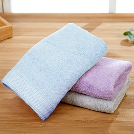 Plain Pattern Cotton Rectangular Indoor Face&Hand Towel