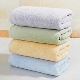 Plain Pattern Soft Cotton Quick-Dry Rectangular Face&Hand Towel