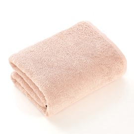 Plain Pattern Rectangular Cotton Simple Style Bath Towel