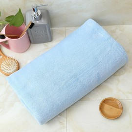 Plain Pattern Polyester Rectangular Quick-Dry Japanese Style Towel