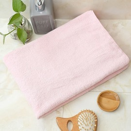 Coral Fleece Plain Pattern Quick-Dry Japanese Style Towel