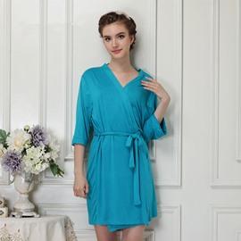 Sky Blue Modal Ultrathin Women's Bathrobe