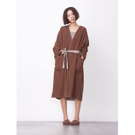 Designer Coffee Color Woolen Cloth Women's Bathrobe