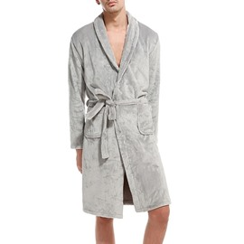 Lace-Up Casual Style Long Sleeve Male Bathrobe