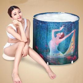 Adult Size Dancing Girl Printed Folding Bathtub