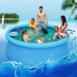 72*22in Portable Inflatable Round Shape PVC Blue Adult SPA Bathtub