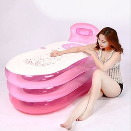 Simple and Elegant Multi-Function Design Removable Coverd Inflatable Adult Bathtub