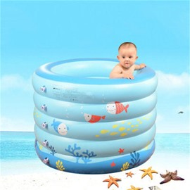 Elegant and Lovely Cartoon Fish Design Removable Coverd Inflatable Baby Bathtub
