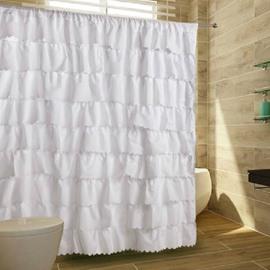 High Grade Elegant Lacey Pattern Shower Curtain