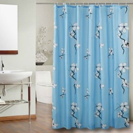 Blooming Wintersweet Print Polyester Waterproof Shower Curtain