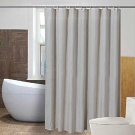Contracted Design Fancy Beige Waterproof Shower Curtain