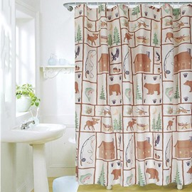New Arrival Fabulous Cute Cartoon Design Shower Curtain