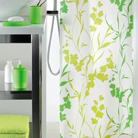 High Quality Elegant Green Vine Design Shower Curtain