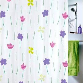 High Quality Lovely Elegant Flora Printing Shower Curtain