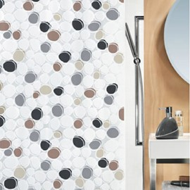 New Arrival Dots Printing Concise Design Shower Curtain
