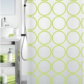New Arrival Concise Green Circles Design Shower Curtain