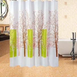 Stylish Graceful Brown Tree Polyester Shower Curtain