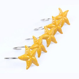 Adorable Fashion Cartoon Stars Design Shower Curtain Hooks