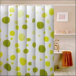 Wonderful Graceful Bright Green Circle Print Shower Curtain