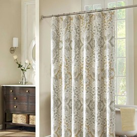 Magnificent European Graceful Jacquard Polyester Shower Curtain