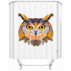 3D Prismatic Fancy Creative Owl Print Shower Curtain