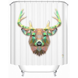 Fancy Vivid Deer Print 3D Prismatic Shower Curtain