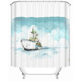 Gorgeous Sail Travel Series Polyester Shower Curtain