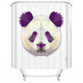 Vivid Gorgeous Panda Print 3D Prismatic Shower Curtain