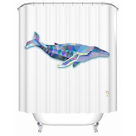 Fierce Special 3D Prismatic Whale Shower Curtain