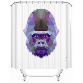 Chic 3D Prismatic Orangutan Print Shower Curtain