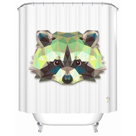 Funny Lifelike  3D Prismatic Raccoon Shower Curtain