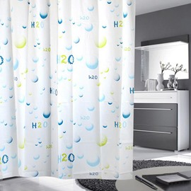 Dreamlike Graceful Blue Water Molecule Shower Curtain