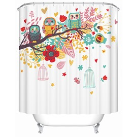 The United States High-Grade Birds' Songs   Creative waterproof  Shower Curtains