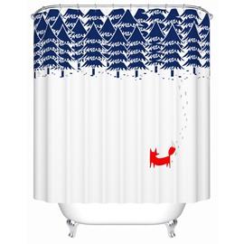 Creative Fashion Children's Simplicity Waterproof  Shower Curtains