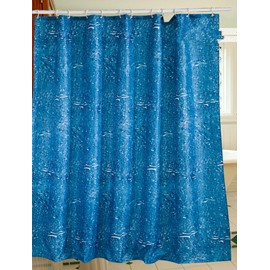 Blue Water Ocean Waterproof Environmental Protection 3D Shower Curtain