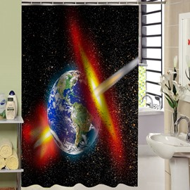 Stunning Unique Space Light Print 3D Shower Curtain
