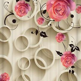 Hot Selling Flower Design 3D Shower Curtain