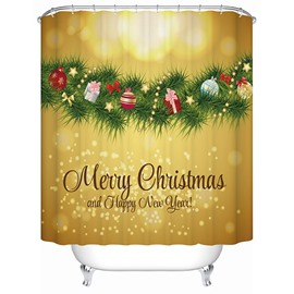 Elaborate Design Brisk Christmas Presents Tree Printing 3D Shower Curtain